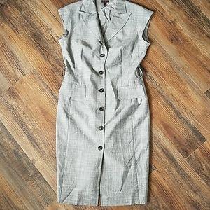 Cap sleeve Escada button dress size 10 (40 Europe)